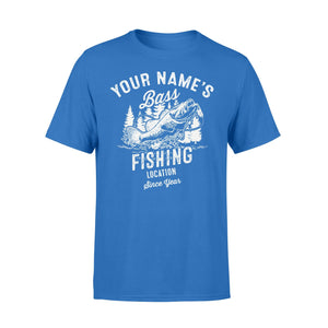 Bass fishing customize name, location, since year personalized gift