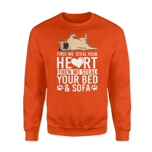 Pugs steal my heart Shirt and Hoodie - IPH399