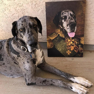 The Colonel - The Princess - Custom dog canvas