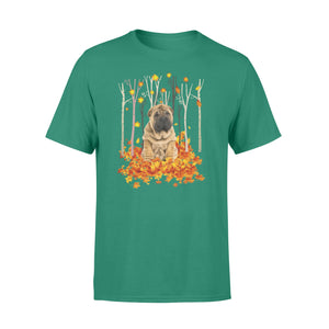 Fall season Shar pei dog print T shirt design - IPH727