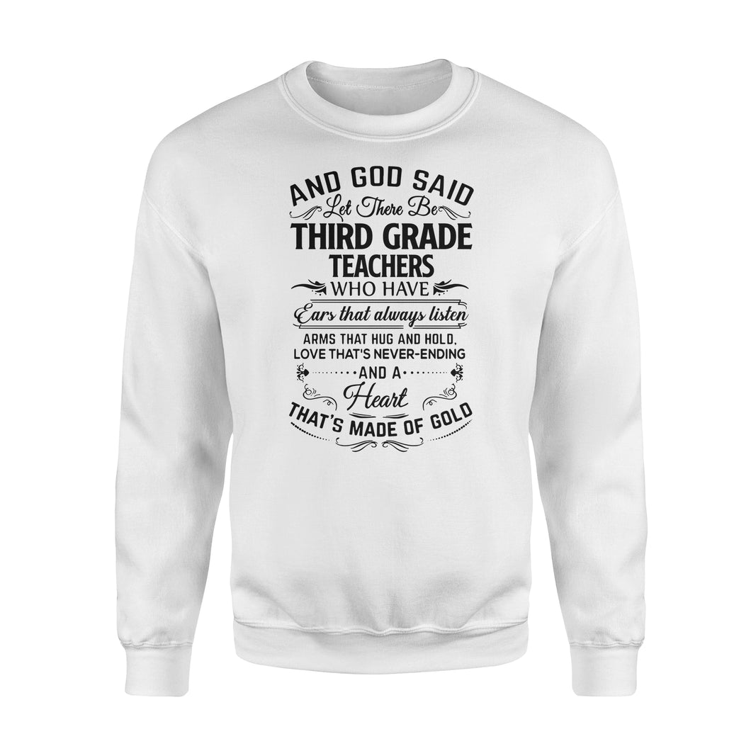 Third grade teacher Shirt and Hoodie - QTS63