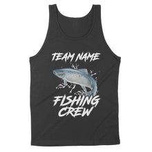 Load image into Gallery viewer, Chinook Salmon Fishing Crew Customize name Tank top design Personalized Fishing gift fishing team - IPH1198