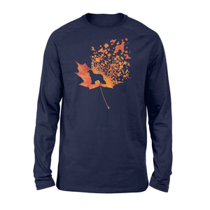 Afghan Hound dog fall leaf - beautiful autumn season Long sleeve shirt - Halloween, Thanksgiving, birthday gift ideas for dog mom, dog dad, dog lovers - IPH459
