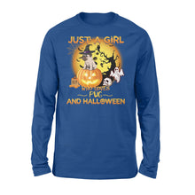 Load image into Gallery viewer, Just a girl who loves Halloween and Pug Shirt and Hoodie  - IPH374