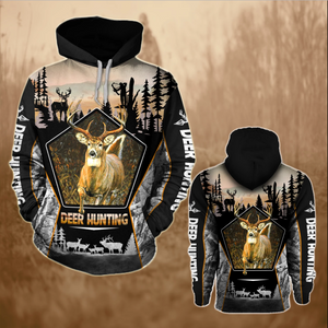 Deer Hunting 3D All over Print Hoodie Plus size - NQS68