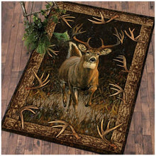 Load image into Gallery viewer, Deer Hunting Living room rugs vintage wood color - NQS48