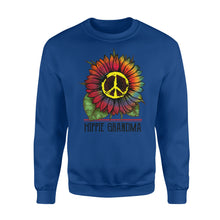 Load image into Gallery viewer, Hippie grandma colorful tie dye sunflower peace sign Sweat shirt - best gift ideas for hippie grandma - IPH377