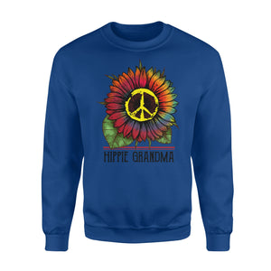 Hippie grandma colorful tie dye sunflower peace sign Sweat shirt - best gift ideas for hippie grandma - IPH377