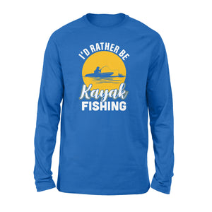 Kayak Fishing Long sleeve shirt design vintage style - awesome Birthday, Christmas gift for fishing lovers - IPH2107
