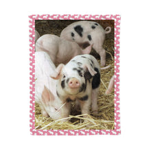 Load image into Gallery viewer, Pig fleece blanket