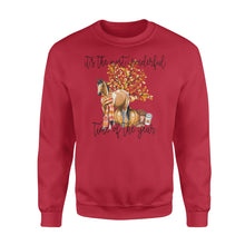 Load image into Gallery viewer, Fall season American Paint Horse sweatshirt design - IPH701