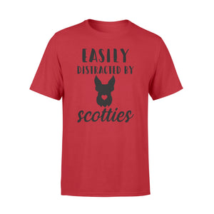 Easily distracted by Scotties T-shirt - great birthday, Halloween, Christmas gift ideas for Scottish Terrier Lovers, dog lovers  - IPH397