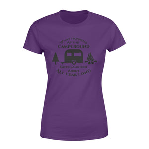 What happens at the campground Camping Shirt and Hoodie - QTS20