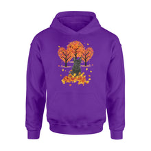 Load image into Gallery viewer, Cute Black Scottish Terrier dog puppies under the autumn tree fall leaf - beautiful fall season Hoodie shirt - Halloween, Thanksgiving, birthday gift ideas for dog mom, dog dad, dog lovers - IPH478