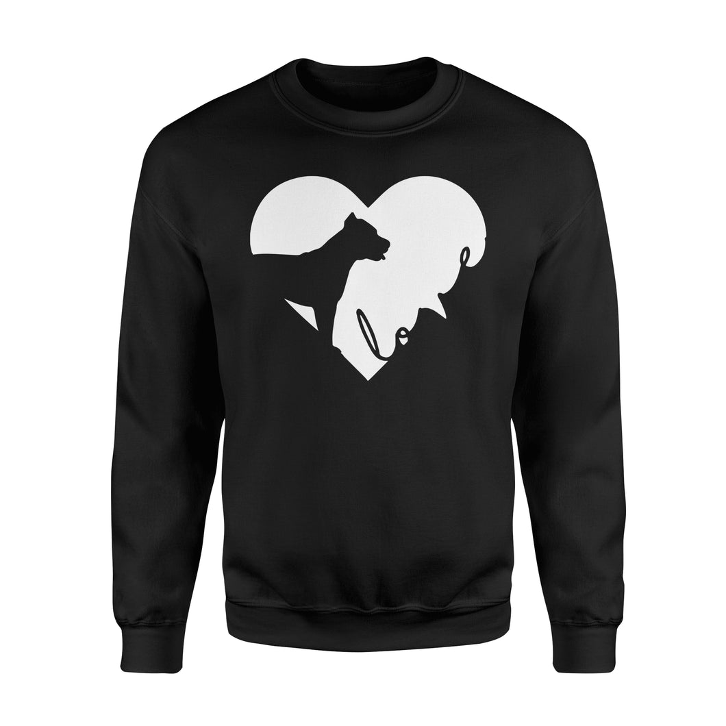 Love Pitbull print sweatshirt design - IPH390