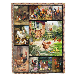 Chicken – Lovely Family Fleece Blanket