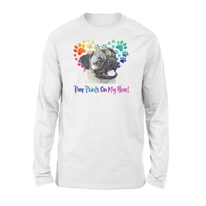 Paw Prints on my Heart Pug Shirt and Hoodie - IPH411