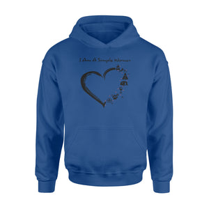 I am a simple woman, camping heart, funny cute camping shirt - QTS48