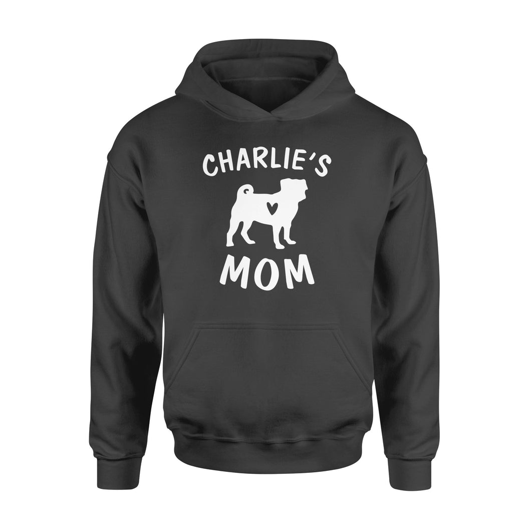Personalized pug name mom shirt and hoodie