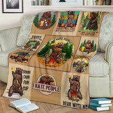 Load image into Gallery viewer, Pendleton camp blanket Bear Fleece Blanket King Size - NQS41