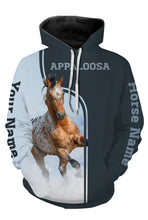 Load image into Gallery viewer, Personalized your name and your Appaloosa horse name full printing shirt and hoodie - TATS24