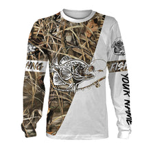 Load image into Gallery viewer, Personalized crappie fishing tattoo full printing shirt, all over print long sleeves, hoodie, zip-up hoodie