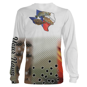 Personalized Texas slam fishing 3D full printing shirt for adult and kid