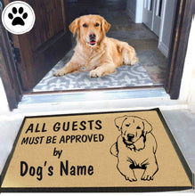 Load image into Gallery viewer, Dog Name Labrador Retriever Doormat