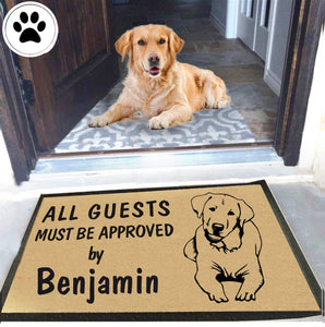 Dog Name Labrador Retriever Doormat