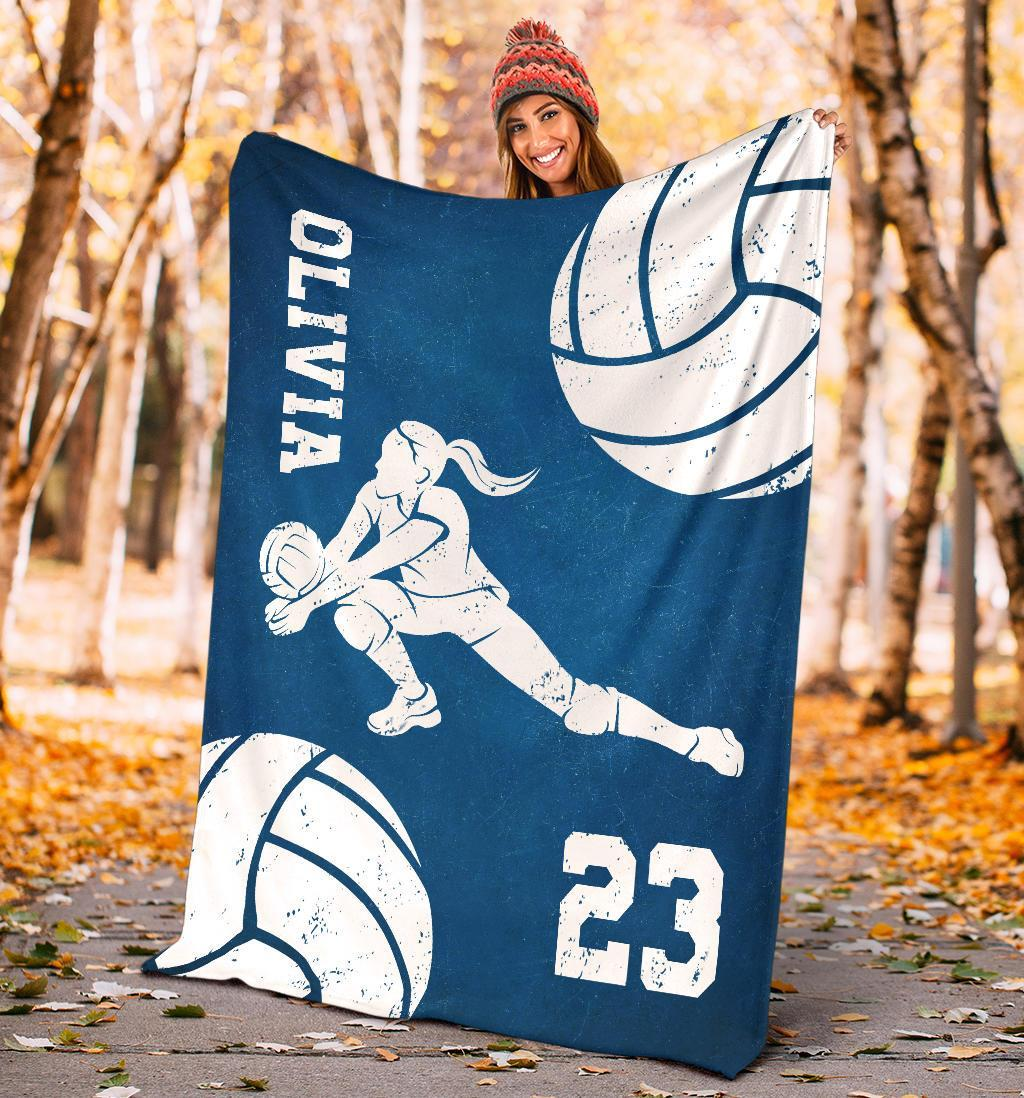Volleyball blankets personalized name volleyball fleece blanket
