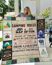 Load image into Gallery viewer, Camping Rule Fleece Blanket - 3DQ105