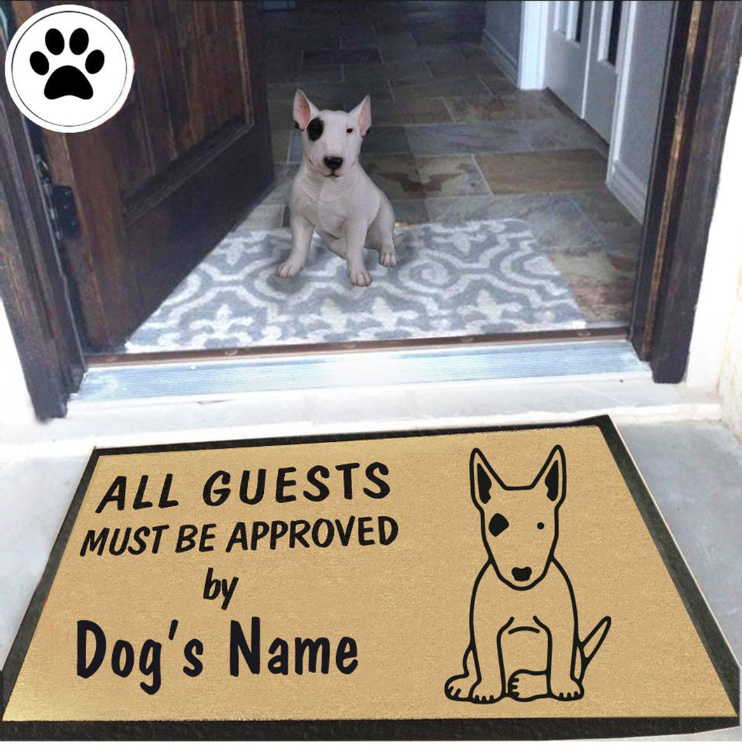 Personalized Dog Name Bull Terrier Doormat