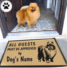 Load image into Gallery viewer, Dog Name Pomeranian Doormat