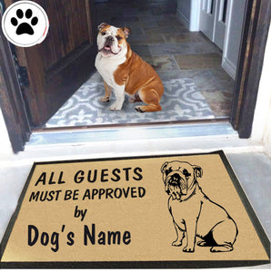 Personalized Dog Name Bulldog Doormat
