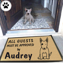 Load image into Gallery viewer, Personalized Dog Name Bull Terrier Doormat