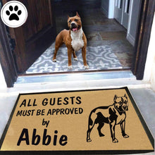 Load image into Gallery viewer, Personalized Dog Name American Pit Bull Terrier Doormat