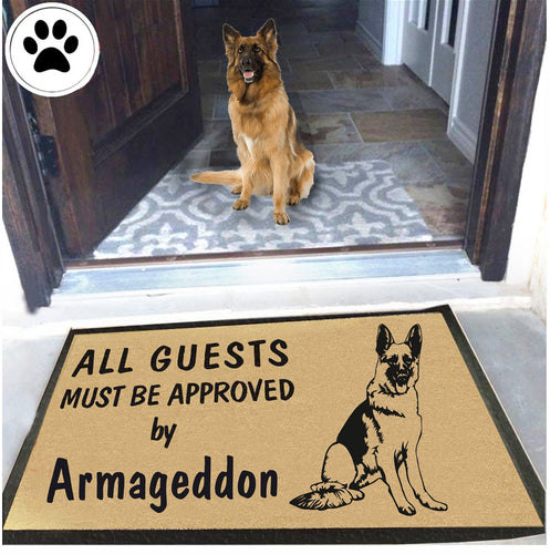 Dog Name German Shepherd Doormat