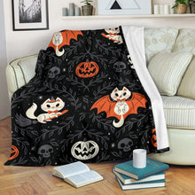 Load image into Gallery viewer, Cat Halloween Blanket - 3DQ70