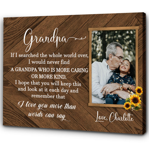Personalized Canvas| Custom Picture Canvas for Grandfather| Father's Day Gift for Grandpa Chipteeamz T79