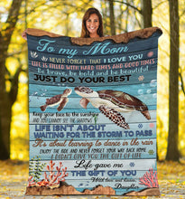 Load image into Gallery viewer, To my mom Thoughtful Fleece Turtle  Blanket great gifts ideas - sentimental unique birthday, mother's day, christmas gift for mom - IPH672