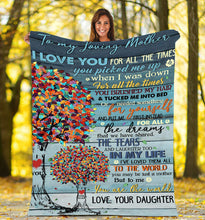 Load image into Gallery viewer, To my Loving mother Thoughtful Blanket great gifts ideas for mother - sentimental unique birthday, mother's day, christmas gifts for mom from daughter - IPH679