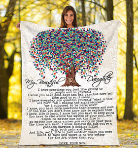 My beautiful daughter Fleece Blanket - IPH686
