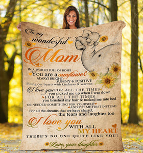 To my mom Thoughtful Fleece Elephant Blanket great gifts ideas - sentimental unique birthday, mother's day, christmas gift for mom - - IPH687