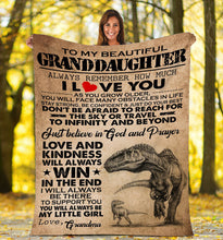 Load image into Gallery viewer, Grandma to my beautiful granddaughter Fleece Blanket - IPH688