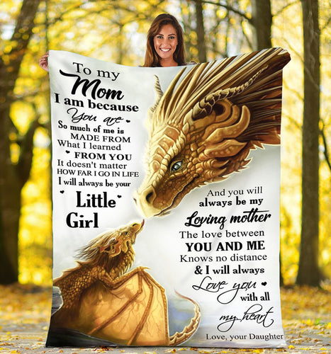 To my mom dragon Fleece Blanket - IPH694