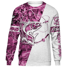 Load image into Gallery viewer, Personalized tuna fishing pink tattoo full printing shirt, hoodie, long sleeves