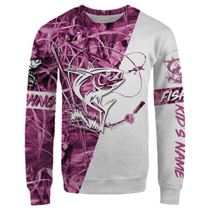 Personalized tuna fishing pink tattoo full printing shirt, hoodie, long sleeves
