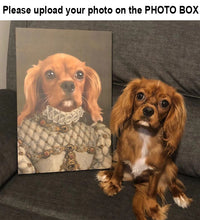 Load image into Gallery viewer, The Colonel - The Princess - Custom dog canvas