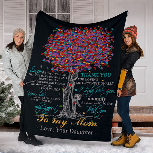 To My Mom Throw Fleece Blanket birthday, christmas gifts for mother- NQS54