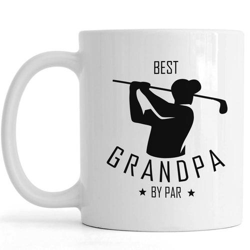 Golf Grandpa Coffee Mug | Best Grandpa By Par | Funny Father's Day Gift for Papa Golfer, Grandpa Birthday Christmas Gift | N759 ChipteeAmz